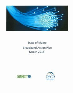 The cover of The State of Maine Broadband Action Plan