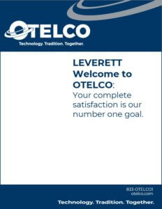 A thumbnail of the Leverette Welcome Booklet, which you can click on to go to the full booklet