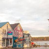 Bar Harbor ME in the fall