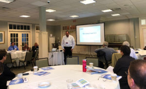 OTELCO Vice President of Marketing, Sales, and Customer Service, Trevor Jones talks to a group of planners about Municipal Broadband.