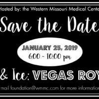 Save the date card for the Fire & Ice: Vegas Royale