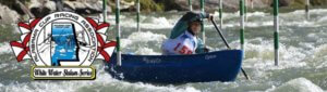 A woman competing in a Alabama Cup Racing Associating Whitewater Racing Event