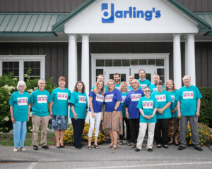 Pictured is the Darling's Champion the Cure team out the Darling's Agency in Brewer. Darling's uses SiteLink to connect their agency and nine other locations.