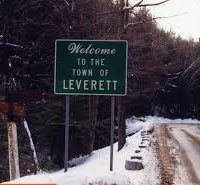 A Welcome to Leverett Sign