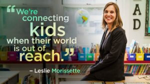 """We're connecting kids when their world is out of reach."" A picture of Grahamtastic founder Leslie Morissette."