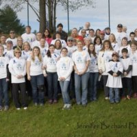 A picture of last year's save your breath 5K volunteers