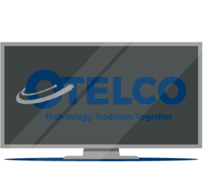 OTELCO Cable TV - A graphic of a TV with the OTELCO logo on it