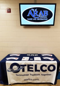 An information stand OTELCO had up at the Arab Parks and Recreation building.