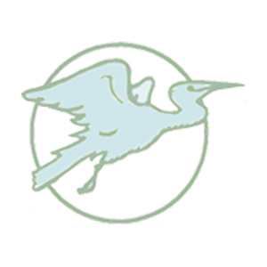 The Friends of the Locust Fork River logo of a heron in a circle.