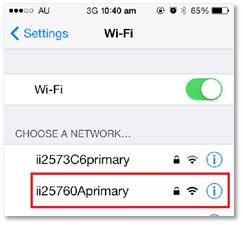 Step 3: Select the name (SSID) of your WiFi network from the list of available connections.