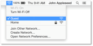 You can use the Wi-Fi menu to quickly connect to a nearby wireless networks from your mac..