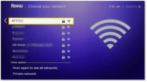 Step 2: Once the list of available networks appears, find and choose your wireless network from the list of those available.